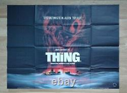 THE THING (1982) original UK quad movie poster John Carpenter Sci-fi Horror