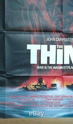 THE THING (1982) original UK quad movie poster John Carpenter Sci-fi Horror