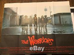 THE WARRIORS 1979 Original UK Quad Poster 30x40 Walter Hill Film
