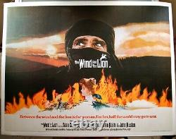 THE WIND AND THE LION original 1975 Quad Movie Poster CONNERY Linen Backed