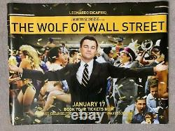 THE WOLF OF WALL STREET Original UK Quad/DS movie poster 2013