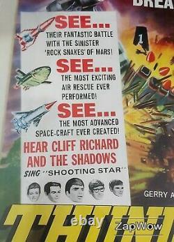 THUNDERBIRDS ARE GO 1966 Zero-X Anderson Original Vintage UK Film Quad Poster