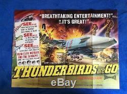 THUNDERBIRDS ARE GO Original UK Quad 1960's Movie Poster Gerry Anderson