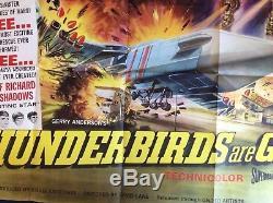 THUNDERBIRDS ARE GO Original UK Quad Movie Poster Gerry Anderson