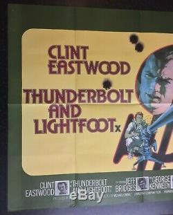THUNDERBOLT AND LIGHTFOOT Original Cinema UK Quad Movie POSTER 1974 Eastwood