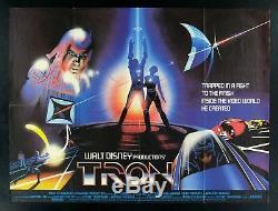 TRON CineMasterpieces BRITISH QUAD ORIGINAL MOVIE POSTER 1982 SCI FI