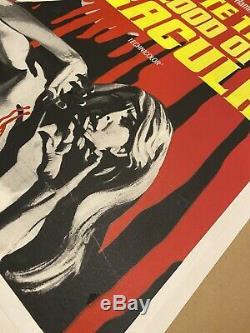Taste The Blood Of Dracula UK Quad (1970) LINEN BACKED withcert RARE Film Poster