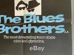 The Blues Brothers Original UK British Quad First Release Film Poster (1980)