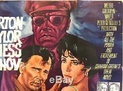 The Comedians Original British Movie Quad Poster 1967 Burton & Taylor