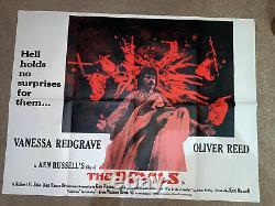 The Devils Ken Russell Quad Vintage Original Film Poster 1971 U. K. Rare