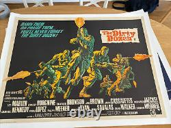 The Dirty Dozen UK Movie Quad Linen Backed & Original