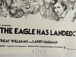 The Eagle Has Landed UK British Quad LINEN BACKED Film Poster (1977) Caine