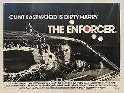 The Enforcer (Warner Brothers, 1977)- Original British Quad Movie Poster