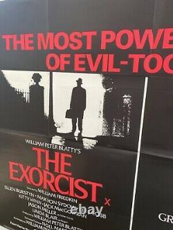 The Exorcist / The Omen Double Bill UK Quad 30x40 Original Horror Film Poster