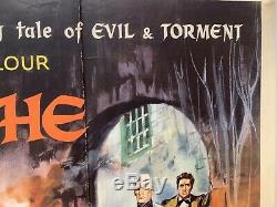 The Fall Of The House Of Usher Original UK British Quad Film Poster 1960 RARE