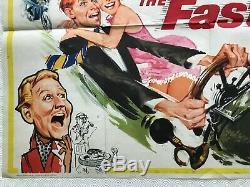 The Fast Lady Original Movie Quad Poster 1962 Julie Christie Fratini Art Bentley