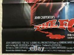 The Fog Original 1980 Movie Quad Poster John Carpenter Jamie Lee Curtis