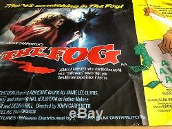 The Fog Original British Quad Cinema Movie Poster John Carpenter