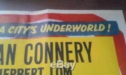 The Frightened City 1961 British Uk Original Quad Film Poster Sean Connery