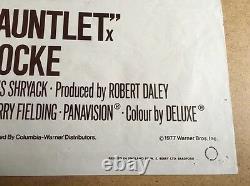 The Gauntlet -Original British Quad Cinema Movie Poster Clint Eastwood -1977