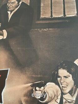 The Getaway Original LINEN BACKED UK Quad 30x40 Film Poster 1972 McQueen