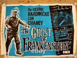 The Ghost of Frankenstein(the 1942 film) Original UK Quad Film Movie Poster