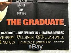The Graduate 1967 Original UK Movie Quad Poster Dustin Hoffman Anne Bancroft