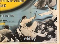 The Hellfire Club Original British Movie Quad UK Film 1961 Peter Cushing Rare