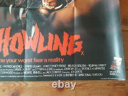 The Howling original UK quad poster for 1981 werewolf film