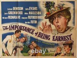 The Importance Of Being Ernest Original Uk Quad Film Poster 1953