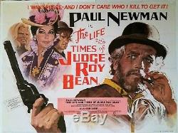 The Life And Times Of Judge Roy Bean Original Uk Quad Film Poster 1972