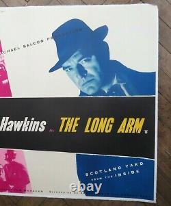 The Long Arm (1956) UK Quad Cinema Poster Ealing Film Studios Classic Crime