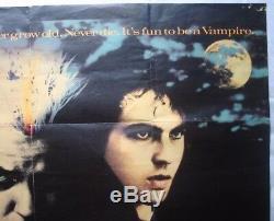 The Lost Boys, Original 1987 British Quad Movie Film Cinema Poster