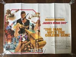 The Man With The Golden Gun Film Poster Original UK Quad