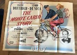 The Monte Carlo Story Original UK Quad Filmplakat Jahr 1956 Marlene Dietrich