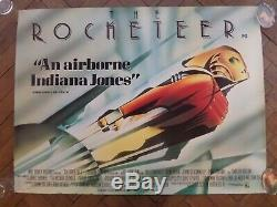 The Rocketeer (1991) British Quad Film Poster ROLLED Art Deco by John Mattos