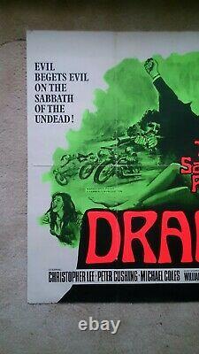 The Satanic Rites of Dracula' 1973 Original UK quad cinema film poster