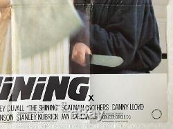 The Shining Original 1980 Movie Quad Poster Stanley Kubrick Nicholson Duvall