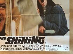 The Shining Original Uk Quad Film Movie Poster 1980 Jack Nicholson Kubrick Vgc