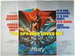 The Spy Who Loved Me Original Uk Quad Film Poster 1977 Roger Moore