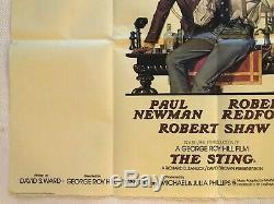 The Sting Original Movie Quad Poster 1973 Redford Newman Richard Amsel Art