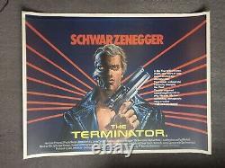 The Terminator Original UK British Quad Film Poster 30x40 Schwarzenegger