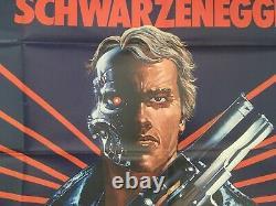 The Terminator Original UK British Quad Film Poster 30x40. Schwarzenegger, Biehn