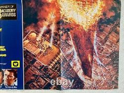 The Towering Inferno Original Movie Quad Poster 1974 Steve McQueen Paul Newman
