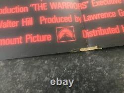 The Warriors Original Quad Movie Poster Rare Black And White Edition
