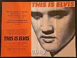 This is Elvis Original Quad Movie Cinema Poster Documentary Elvis Presley 1981