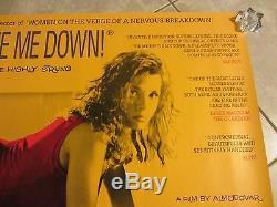 Tie Me Up Tie Me Down movie poster Almodovar, Victoria Abril original uk quad