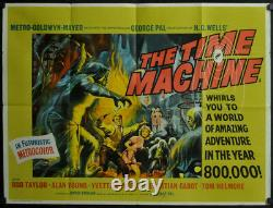 Time Machine 1960 Orig 30x40 Quad Movie Poster Rod Taylor Alan Young H. G. Wells