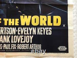 Top Of The World Original British Movie Quad Poster 1955 Dale Robertson, Rare