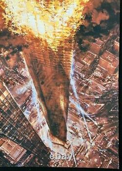Towering Inferno ORIGINAL Quad Movie Cinema Poster Steve McQueen Paul Newman